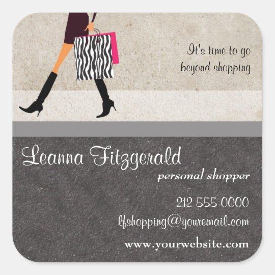 Sophisticated Shopper Promotional Sticker