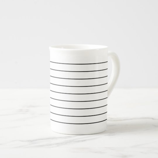 Sophisticated Stripes Black and White Tea Cup