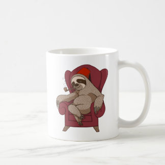 Sophisticated Three Toed Sloth Basic White Mug