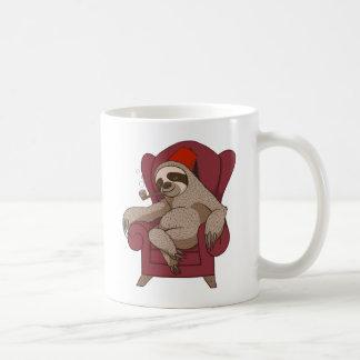 Sophisticated Three Toed Sloth Basic White Mug