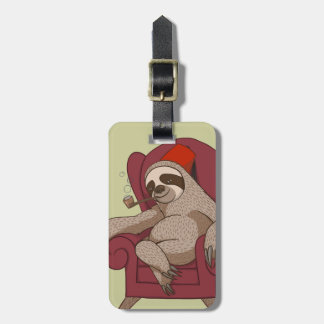 Sophisticated Three Toed Sloth Luggage Tag