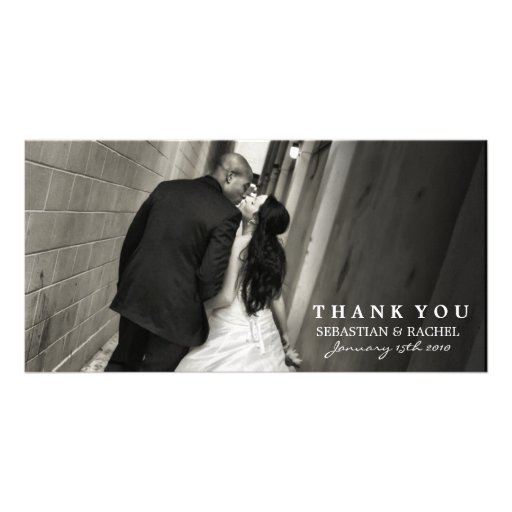 SOPHISTICATED TWO IN BLACK AND WHITE PERSONALIZED PHOTO CARD