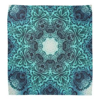 sophisticated vintage bohemian pattern teal lace head kerchiefs