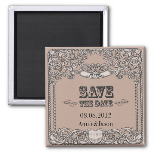 Sophisticated Western Wedding SaveTheDate Magnet