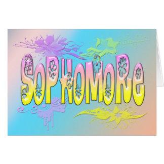 Sophomore - Flowers Greeting Card