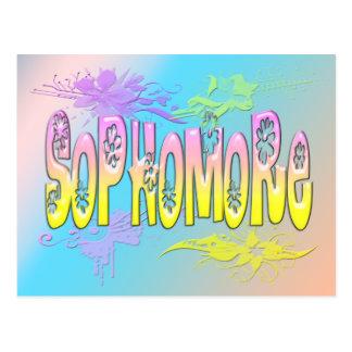 Sophomore - Flowers Post Card