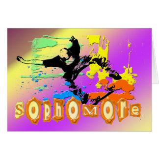 Sophomore - Skateboarding Greeting Cards