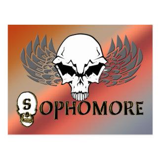 Sophomore - Skull Wings Post Card