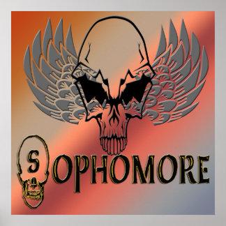 Sophomore - Skull Wings  Poster