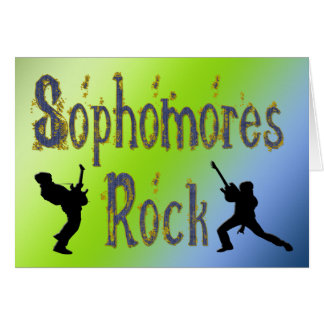 Sophomores Rock - Guitar Players Cards