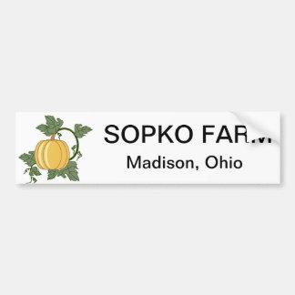 sopko farm bumper sticker