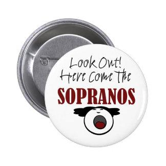 Soprano 6 Cm Round Badge