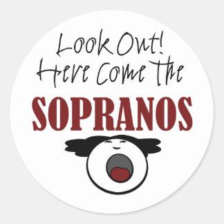 Soprano Classic Round Sticker
