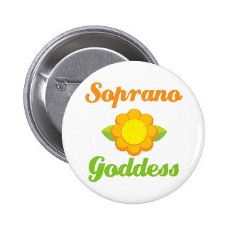 Soprano Goddess 6 Cm Round Badge