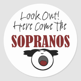 Soprano Round Sticker