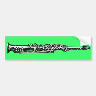 Soprano Sax Bumper Sticker