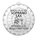 Soprano Sax Nothing Else Matters Dartboard With Darts