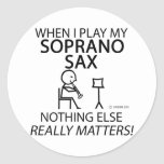 Soprano Sax Nothing Else Matters Round Stickers