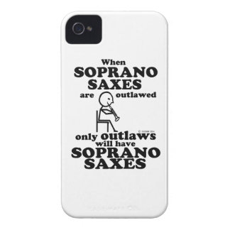 Soprano Saxes Outlawed iPhone 4 Case-Mate Cases