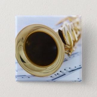 Soprano Saxophone 15 Cm Square Badge