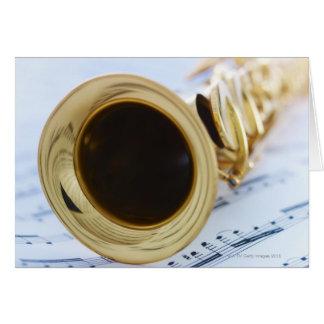 Soprano Saxophone Card