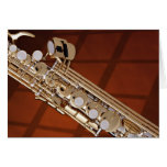 Soprano Saxophone On Gold Cards