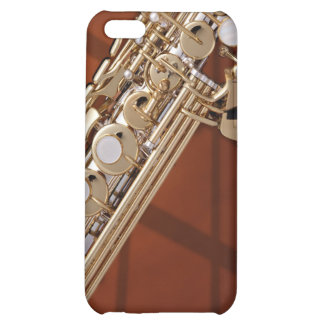 Soprano Saxophone On Gold Case For iPhone 5C