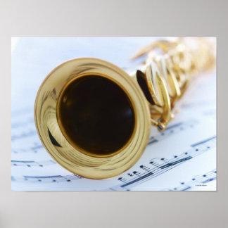 Soprano Saxophone Poster