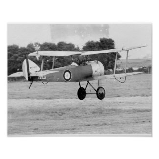 Sopwith Aircraft Taking Off Poster