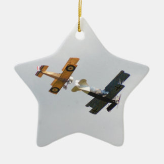 Sopwith Camel and Fokker D.VII Models Christmas Ornament