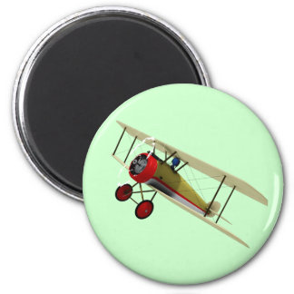 Sopwith Camel and Pilot 6 Cm Round Magnet