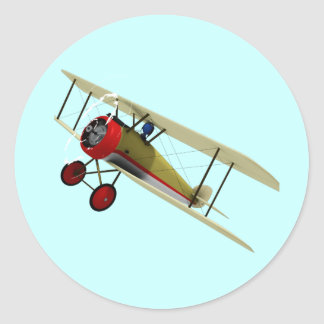 Sopwith Camel and Pilot Classic Round Sticker