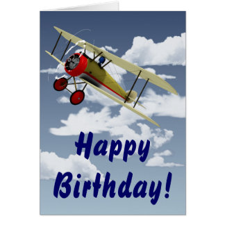 Sopwith Camel and Pilot Greeting Card