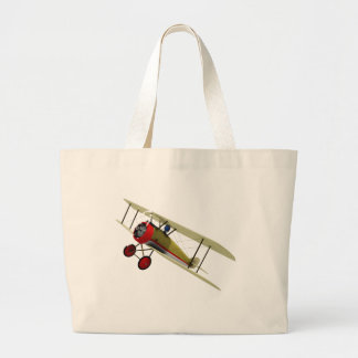 Sopwith Camel and Pilot Large Tote Bag