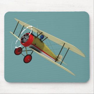 Sopwith Camel and Pilot Mouse Mat