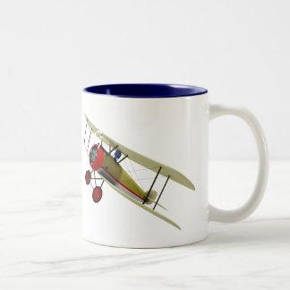 Sopwith Camel and Pilot Two-Tone Coffee Mug