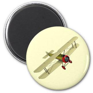 Sopwith Camel Biplane 6 Cm Round Magnet