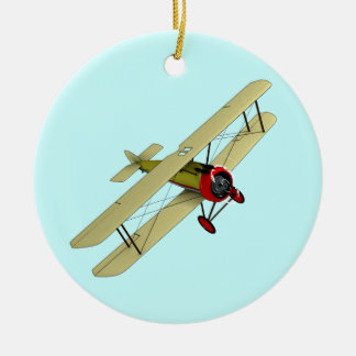 Sopwith Camel Biplane Christmas Ornament