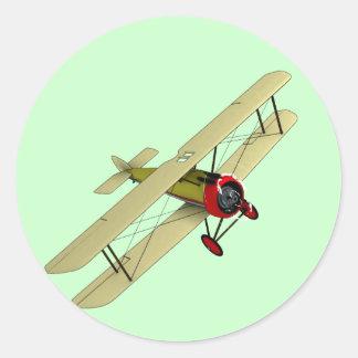 Sopwith Camel Biplane Classic Round Sticker