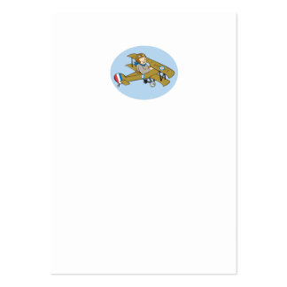 Sopwith Camel Scout Airplane Cartoon Business Card