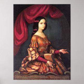 Sor Juana a los 15 años J. Sánchez Fine Art Poster