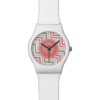 Sorbet Chevrons with Triple Monograms Wrist Watch