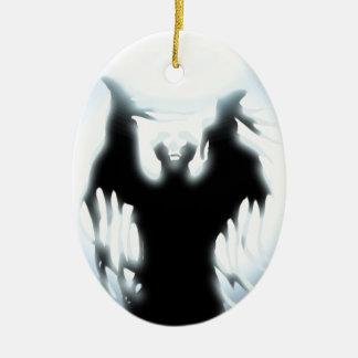Sorcerer's Design Ceramic Oval Decoration