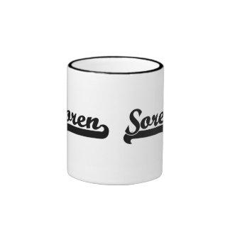 Soren Classic Retro Name Design Ringer Mug