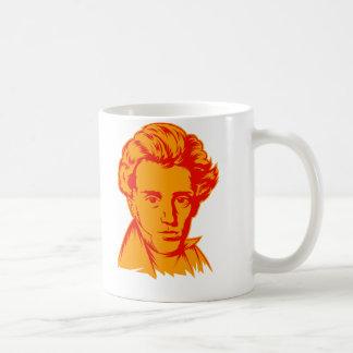 Soren Kierkegaard philosophy existentialist portra Basic White Mug