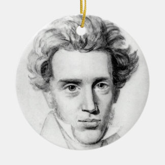 """SOREN KIERKEGAARD"" ROUND CERAMIC DECORATION"