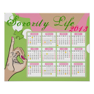 Sorority Life Calendar Posters