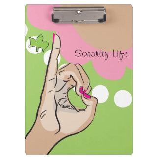 Sorority Life Clip Board Clipboard