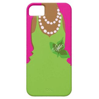 Sorority Life Pink Green Monogram iPhone 5 Case