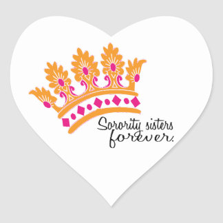 Sorority Sisters Forever Heart Stickers